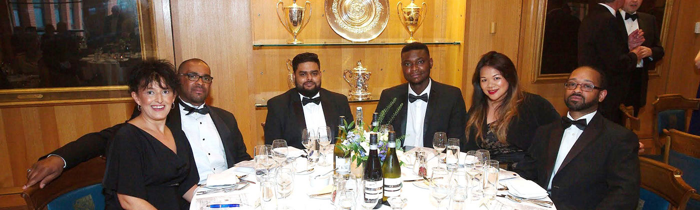 Health Care and Locum Recruitment table at Haberdashers' Gala Dinner