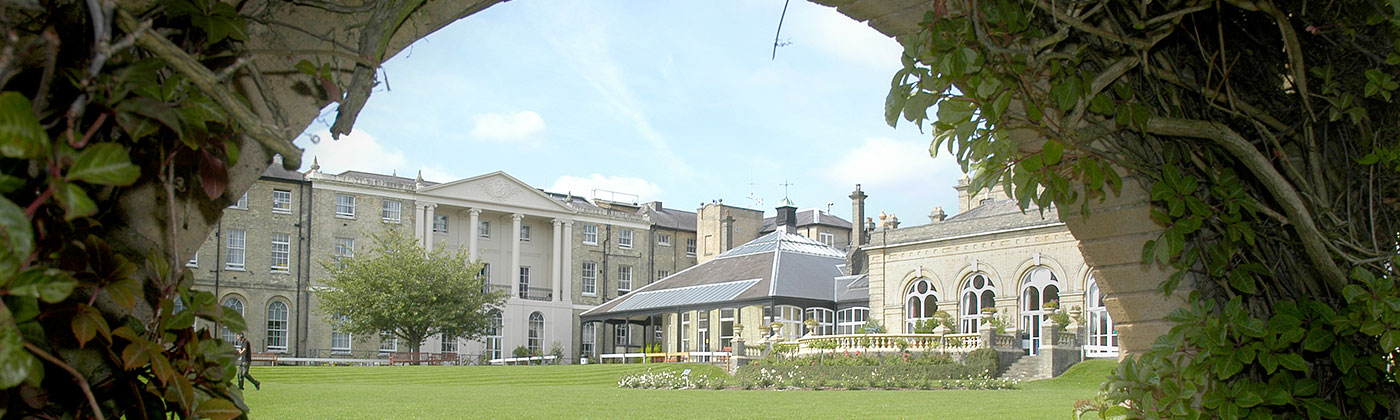 The Royal Hospital for Neuro-disability viewed across the lawn