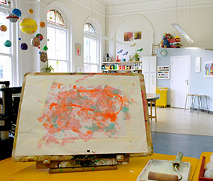 the art room at the Royal Hospital for Neuro-disability Putney, London, UK
