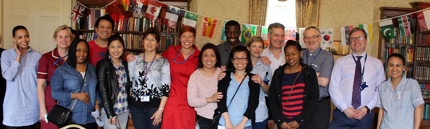 A group of nurses celebrate international nurses day
