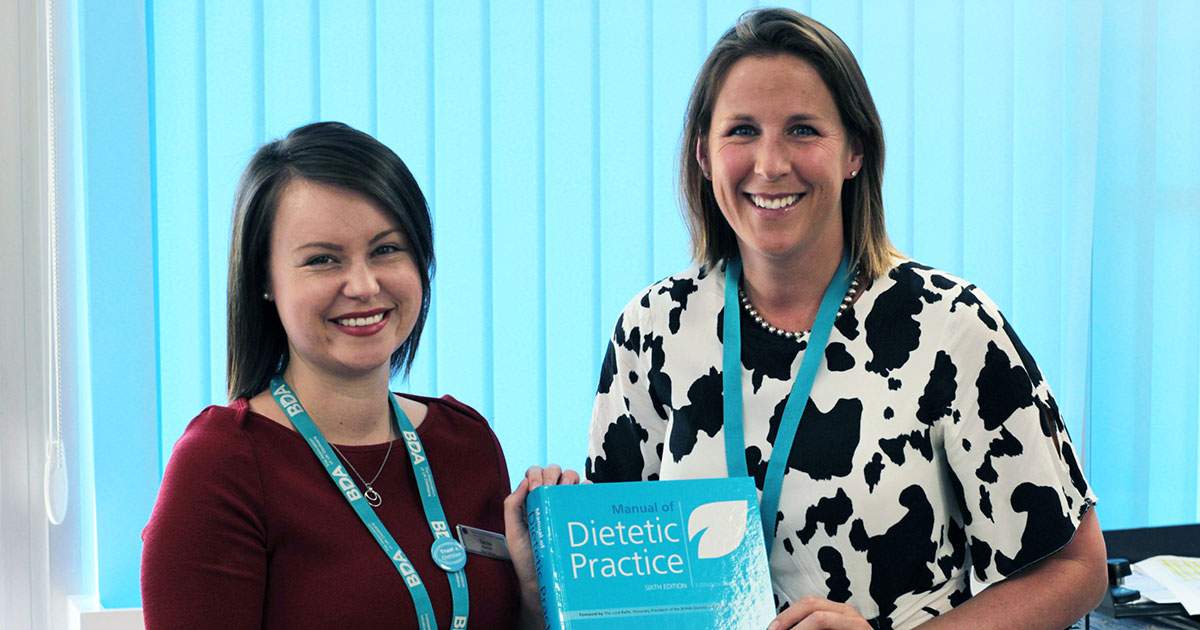 Two of the RHN dieticians who wrote the chapter on dietetic practise in neurorehabilitation