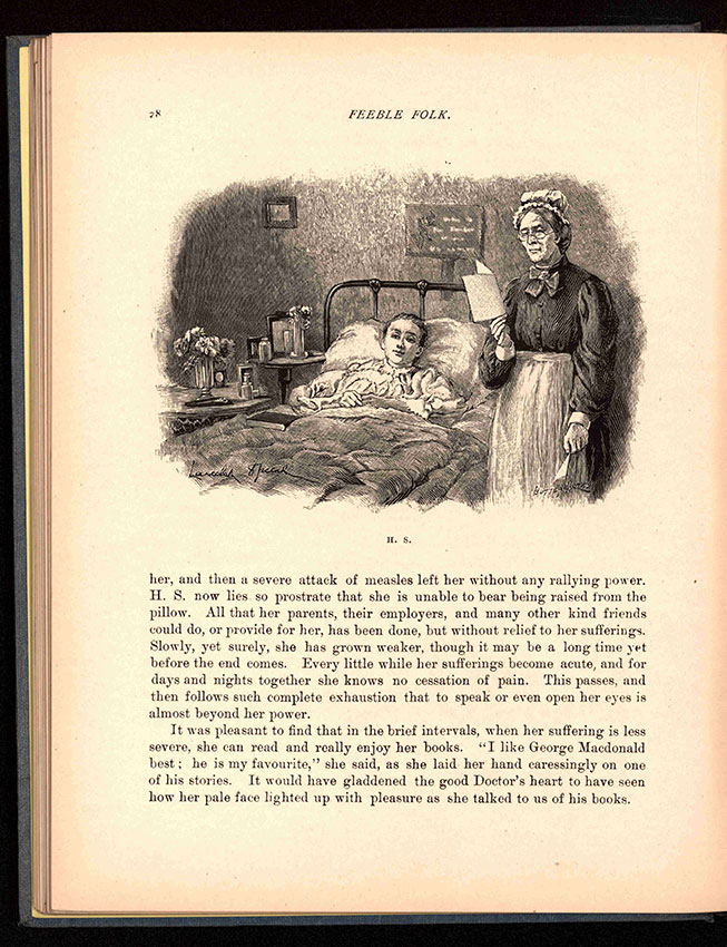 page from inside 1899 book Feeble Folk